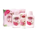 SET ROSA BULGARIA HAIR SHAMPOO 150 ml+BODY LOTION 150 ml+CREAM HAND AND FOOT 100 ml